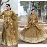SERRAW WOMEN'S GEORGETTE WITH HEAVY EMBROIDERY WORK WITH  SLEEVES FULLY STITCHED