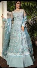SERRAW WOMEN'S BUTTERFLY NET & TAPETA SILK GOWN WITH EMBROIDERY WORK WITH FULL SLEEVES