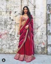 Serraw Women's Georgette Saree On Heavy Digital Print Work With Heavy Banglory Blouse With Heavy Emb