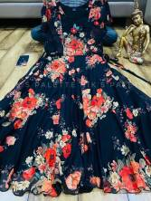 New Printed Fox Georgette Maxi Gown With Digital Print