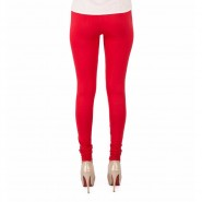 Serraw ultra soft cotton solid regular leggings for Women's and Girls-Red