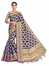 Banarasi Silk saree with beautiful unthread works all Over Saree & Golden Zari Border.