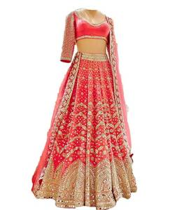 Serraw Women's Heavy Foil Paper Embroidered Work Lehenga & Choli