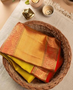 Serraw Womens Soft Lichi Silk with Beautiful Rich Pallu and Jacquard Work in Multi Color